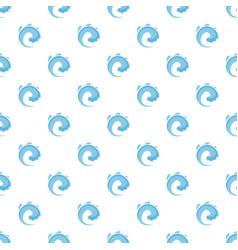 wave water tsunami pattern seamless vector image