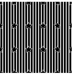 white stripe and star on black background vector image