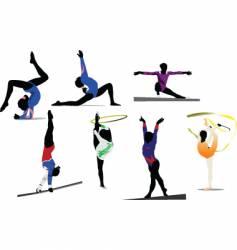 woman gymnastic vector image vector image