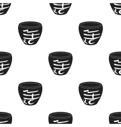 Bowl icon in black style isolated on white vector image