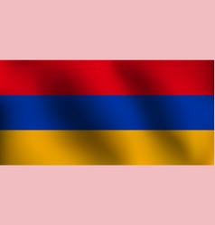 flag of armenia - vector image vector image