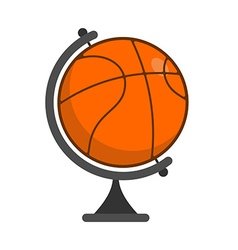 Globe basketball World game Sports accessory as vector image