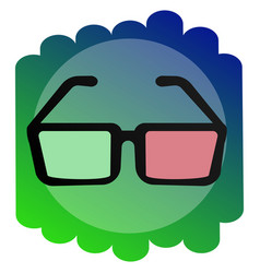 icon 3d glasses the sign of the cinema vector image vector image