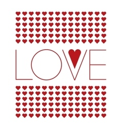 Love background with small red hearts vector image vector image