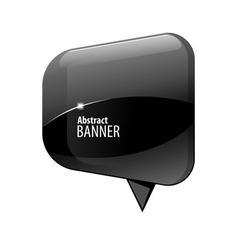 Shiny gloss blue 3d banner vector image