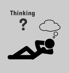 symbol of people lying thinking vector image