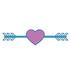 arrowed heart icon vector image