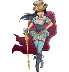 Sexy Victorian Steampunk Woman vector image