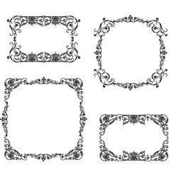 a set of the vintage decorative frames vector image