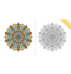 Antistress coloring page mandala ninth vector