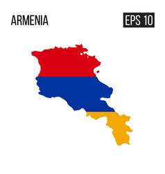 armenia map border with flag eps10 vector image