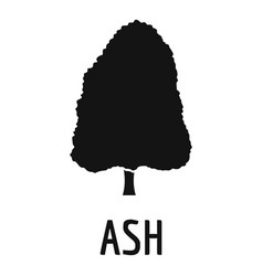 Ash tree icon simple black style vector