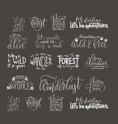 Big collection of adventure outdoors and travel vector