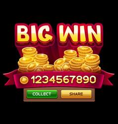 big win screen vector image