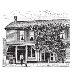 Birthplace of william mckinley vintage vector