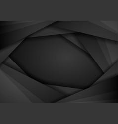 black background overlap dimension grey message vector image
