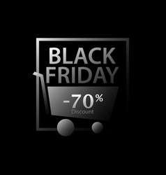 black friday 70 percent discount promotional vector image