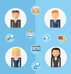 Business teamwork concept flat vector