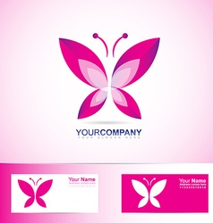 Butterfly logo for spa and beauty vector