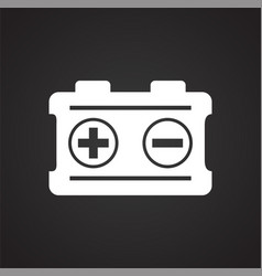 Car battery on black background for graphic and vector
