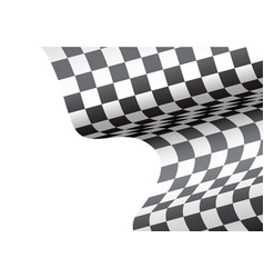 Checkered flag wave white blank space sport race vector