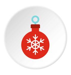 christmas ball icon circle vector image