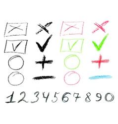 Crayon Doodles3 vector image