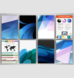 creative blue backgrounds and abstract concept vector image