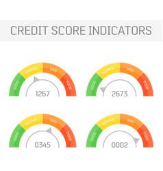 Credit score indicators vector