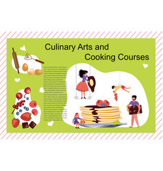 culinary art and cooking courses poster vector image