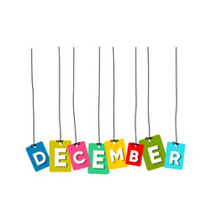 december word vector image