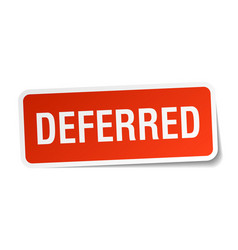 Deferred square sticker on white vector