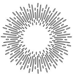 Design elements sunburst explosion effect vector