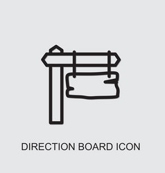 Direction board icon vector