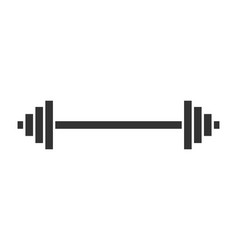 Dumbbell fitness gym in flat style barbell on vector