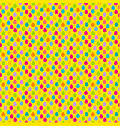 easter egg hunt seamless pattern vector image