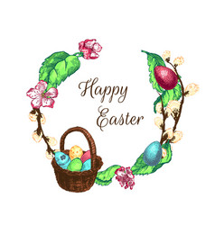easter sketch bg vector image