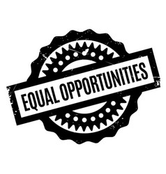 Equal opportunities rubber stamp vector