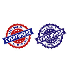 Everywhere best quality stamp with dirty texture vector