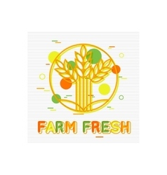 Farm Fresh Concept Farm Fresh Background Farm vector