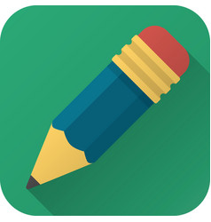 flat icon toy pencil vector image