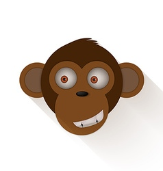 Funny monkey head Cartoon monkey vector image