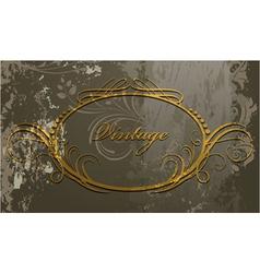 Grunge calligraphic frame vector