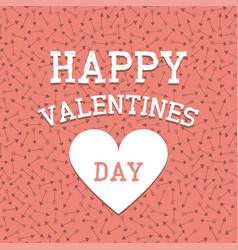 happy valentines day decorative background vector image
