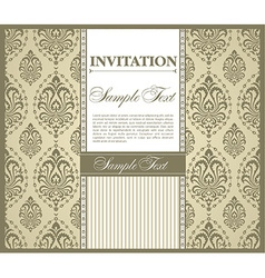 Invitation gretting card vector image