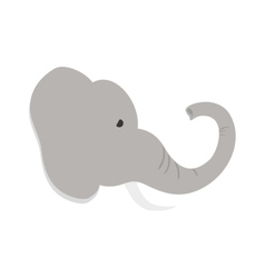 isolated elephant cartoon vector image