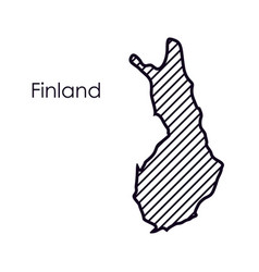 Isolated finland map design vector