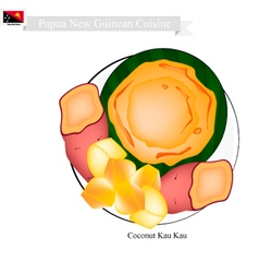 Kau Kau or Papua New Guinean Baked Sweet Potato vector
