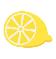 lemon flat icon fruit and vitamin vector image
