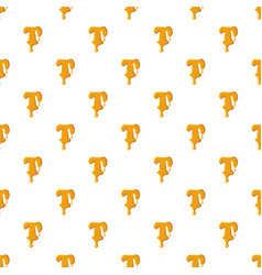 Letter t from honey pattern vector
